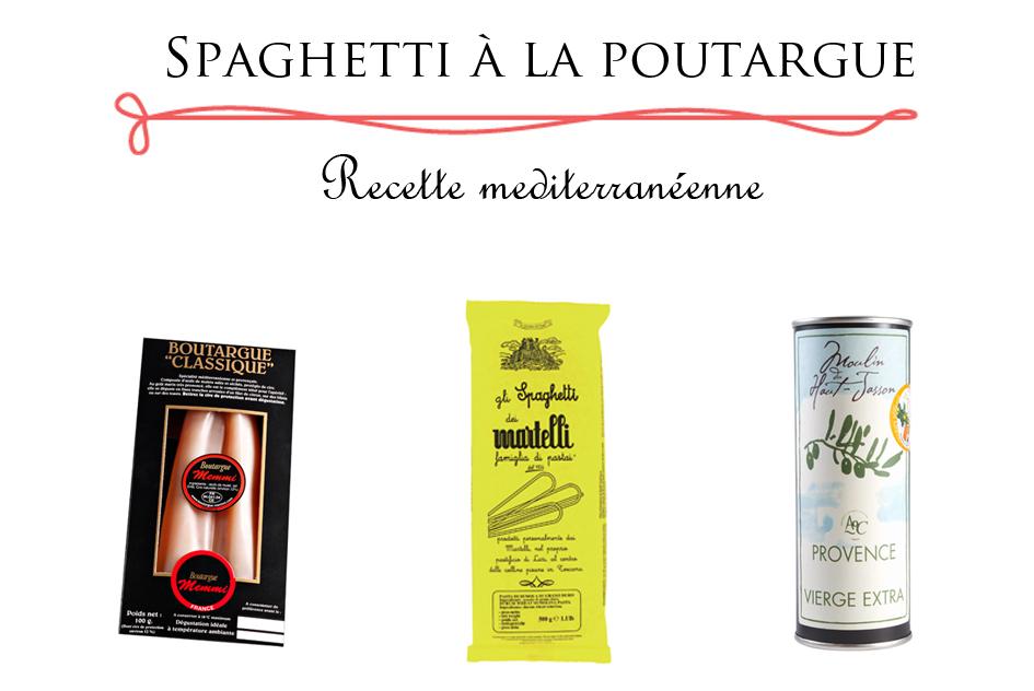 Recette Poutargue - Spaghetti à la poutargue