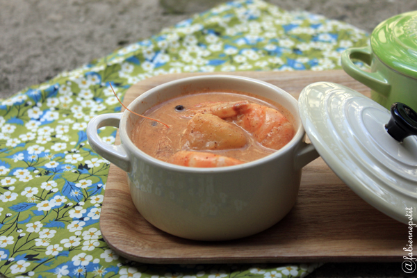 Bisque de homard coco curry