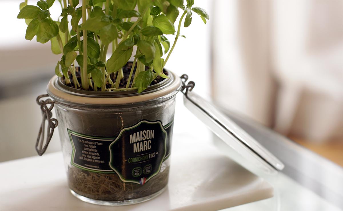 DIY Recycler vos bocaux de cornichons Maison Marc